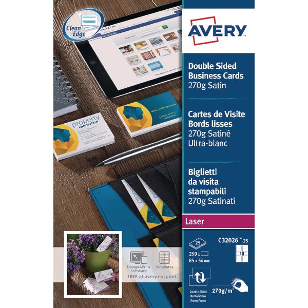 Avery matte white double sided inkjet business cards 85 x 54mm avery matte white double sided inkjet business cards 85 x 54mm pack of 200 reheart Choice Image